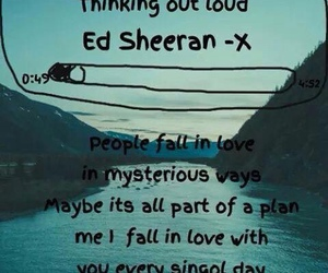 ed sheeran, thinking out loud, and music image