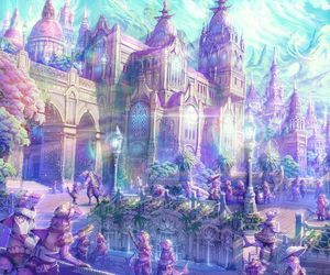 fantasy, anime, and city image