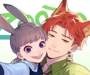 zootopia, anime, and couple image