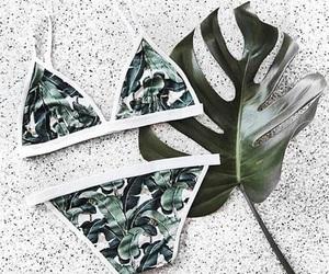 leaves, swimwear, and cute image