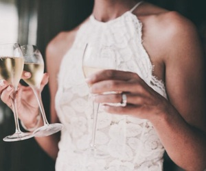 champagne, fashion, and wedding image