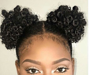 eyebrows, hair, and make up image