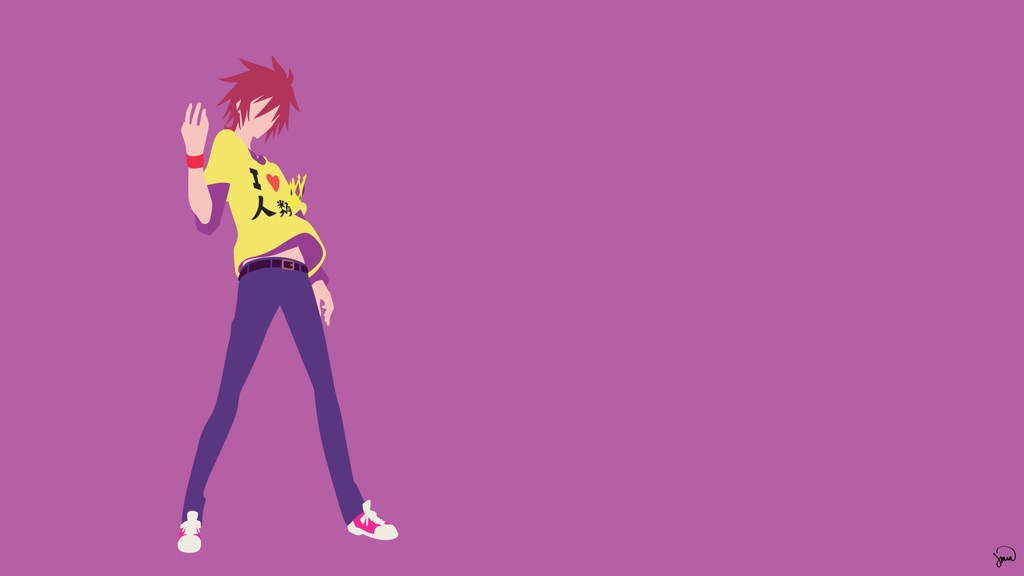 Sora No Game No Life Minimalist Wallpaper By Greenmapple17