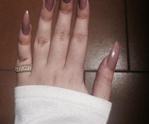 brown, nails, and kardashian image