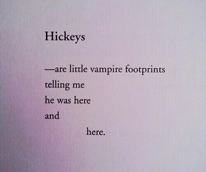 hickey, vampire, and footprints image