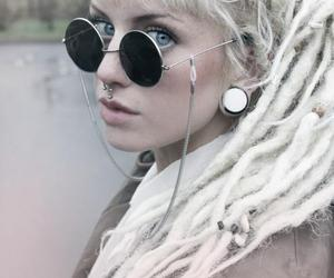 girl, dreads, and piercing image