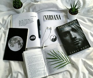 nirvana, book, and grunge image