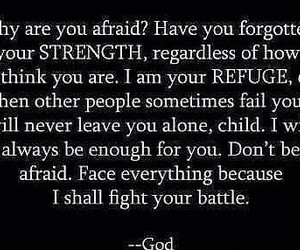 god, strength, and not alone image