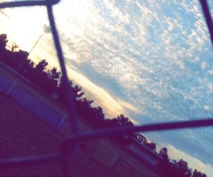 beautiful, cloudy, and fence image