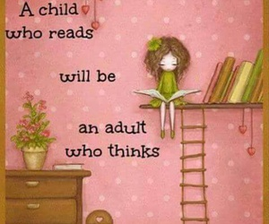 book, child, and reading image