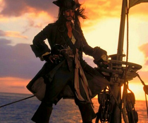 pirates of the caribbean, jack sparrow, and captain jack sparrow image