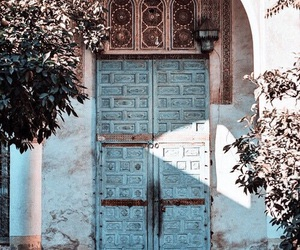 door, travel, and blue image