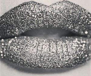 lips, glitter, and makeup image