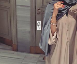 hijab, muslim, and islam image