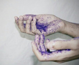 purple, glitter, and hands image