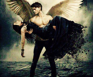 angel, fallen, and love image