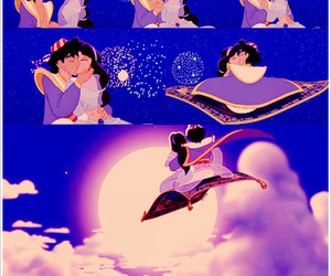 aladdin, couple, and disney image