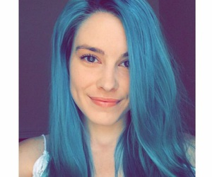 beauty, blue hair, and model image