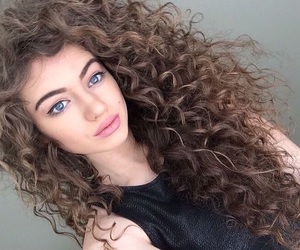hair, curly, and beauty image