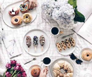 donuts, flowers, and ice cream image