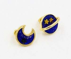 earrings, girly, and moon image