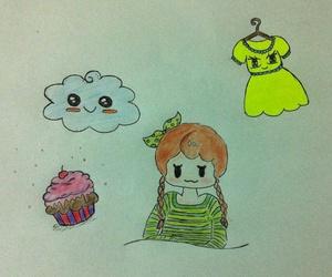 anime, art, and cupcake image