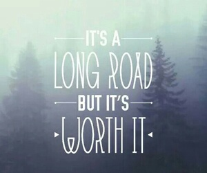 long road and quote image
