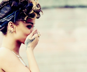 rihanna and tattoo image