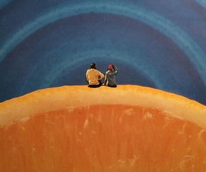 illustration, lemon, and sky image