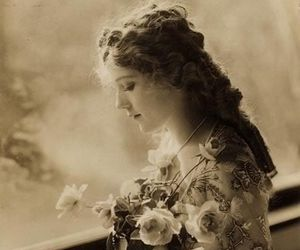 mary pickford and vintage image