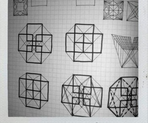 cube, doodle, and geometric image