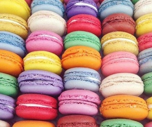 macaroons, colorful, and sweet image