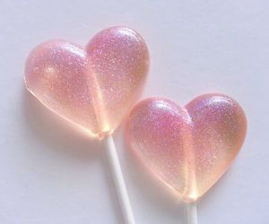 pink, heart, and lollipop image