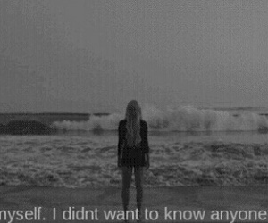 sad, alone, and black and white image