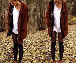 fashion, clothes, and autumn image