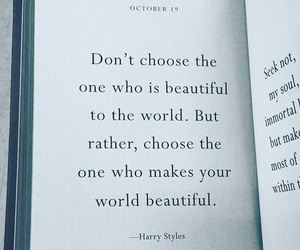 Harry Styles, quotes, and world image