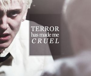 draco malfoy, harry potter, and terror image