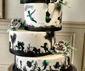 cake, disney, and wedding image