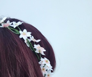 crown, flower crown, and flowers image