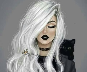 black, doll, and hair image