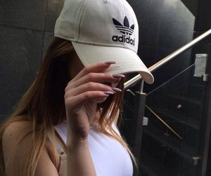 adidas, girl, and nails image