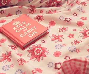 keep calm, pink, and book image
