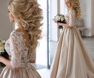 bride, daydream, and hair image
