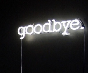goodbye, light, and neon image