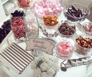 buffet, candy, and candy buffet image