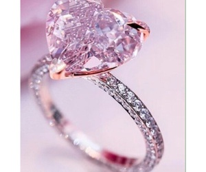 heart, pink, and ring image