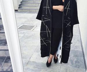 black, fashion, and abaya image