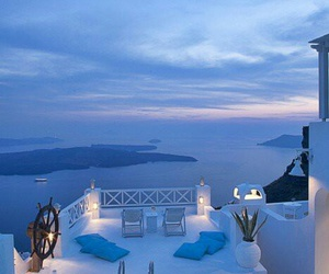 pool, blue, and Greece image