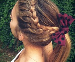 fashion, hair, and trenza image