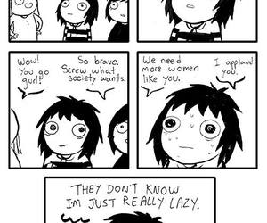 funny, Lazy, and sarah andersen image